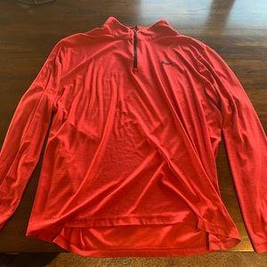 Men's Red Nike Quarter Zip
